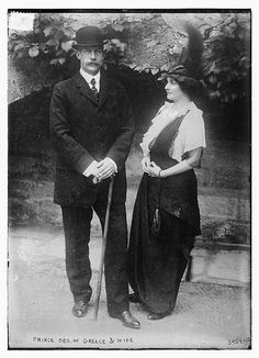 Prince George of Greece and Denmark with his wife, the former Princess Marie Bonaparte