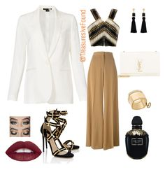 """""""Sexy night out on the town.... #Sexy #KimKardashian #Blazer #Balmain #DateNight #Theater #NewYork #LA #Hollywood #"""" by treasures-ive-found on Polyvore featuring Theory, STELLA McCARTNEY, Balmain, Michael Kors, Accessorize, Paul Andrew, Yves Saint Laurent and Alexander McQueen"""