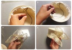 step by step-make a head dress for going to a wedding party Headdress, Headpiece, African Hats, Hat Tutorial, Love Hat, Couture, Crochet Fashion, Hat Making, Fascinators