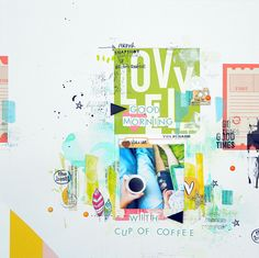 #papercraft #scrapbook #layout. good morning by mumkaa at @studio_calico