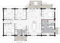 Bungalow House Plans, Modern House Plans, Container, Floor Plans, Flooring, How To Plan, Ideas, Design, Home Decor