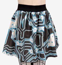 TRON Inspired Full Skirt by GoChaseRabbits on Etsy, $45.99
