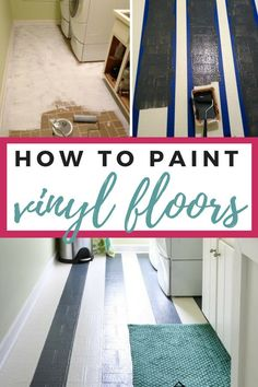 Painting vinyl floors is an affordable way give your room a fun fresh update! This tutorial produces durable and long lasting results and is amazingly simple. Diy Flooring, Updating House, Diy Painted Floors, Painted Floors, Modern Flooring, Painted Vinyl Floors, Vinyl, Farmhouse Flooring, Flooring
