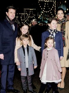 """thecambridgees: """"""""Crown Prince Frederik Crown Princess Mary with children Prince Christian, Princess Isabella, Prince Vincent and Princess Josephine arrive to the premiere of the Tarkovsky 'The Nutcracker' ballet in Tivoli which has the Queen as..."""