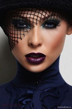 dramatic lips and eyes.. runaway ready..