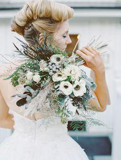 grey bouquet palette