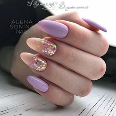 Make an original manicure for Valentine's Day - My Nails Dream Nails, Love Nails, Gorgeous Nails, Pretty Nails, My Nails, Grow Nails, Nagellack Design, Confetti Nails, Cute Acrylic Nails