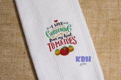 Gardening Hand Towel by KeepsakesByHeather on Etsy