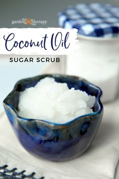 This coconut oil sugar scrub is like a little slice of heaven for your skin. It smells like the Garden of Eden with a mix of essential oils such as lavender, rose, geranium, carrot seed, and ylang ylang. Body Scrub Recipe, Sugar Scrub Recipe, Coconut Oil Beauty, Coconut Oil For Skin, Cocunut Oil, Coconut Oil Sugar Scrub, Home Remedies Beauty, Skin Care Routine For 20s, Natural Beauty Recipes