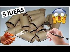 5 Creative Ideas With Toilet paper roll Toilet Paper Roll Art, Rolled Paper Art, Toilet Paper Roll Crafts, Diy Paper, Easy Crafts To Make, Fun Crafts For Kids, Diy Home Crafts, Spinner Card, Creative Bookmarks
