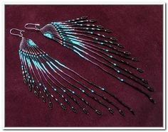 native american earrings seed bead - Google Search