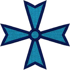 Embroidery Design: Maltese Cross #4. This design is available for 4 hoop sizes.