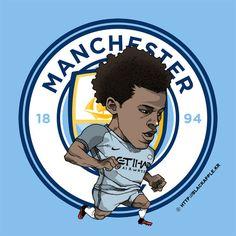 Manchester City No.19 Leroy Sane Fan Art