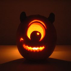 Mike Wazowski Pumpkin, monsters inc Disney