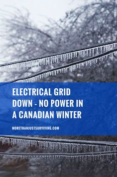 Electrical Grid Down - No Power in a Canadian Winter