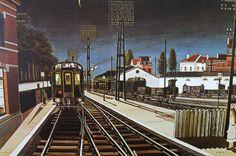 Paul Delvaux - Trains du Soir