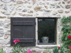 New custom made window and shutter for a 300 years old cottage in Western France