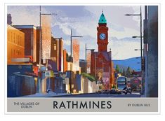 Rathmines - Villages of Dublin - Ireland Posters. In Pursuit, Grand Canal, Rest Of The World, Dublin Ireland, 14th Century, Troops, City, Places, Prints