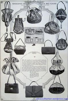 """Bagging Is A Big Game,"" Delineator, April Purses and handbags. Cheap Handbags, New Handbags, Luxury Handbags, Purses And Handbags, Burberry Handbags, Gucci Bags, Vintage Purses, Vintage Bags, Vintage Handbags"