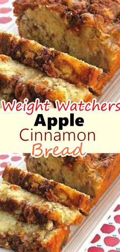 This recipe seriously makes The BEST Cinnamon Apple Bread! It tastes like apple crisp in bread form! It's moist, flavorful and has a crunchy cinnamon topping. This Cinnamon Apple Bread is made with applesauce which keeps Best Apple Recipes, Apple Dessert Recipes, Ww Desserts, Ww Recipes, Cake Recipes, Favorite Recipes, Apple Bread Recipe Healthy, Healthy Recipes With Apples, Ww Bread Recipe