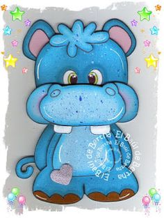 EL BAÚL DE BERTHA - MANUALIDADES: Hipopótamo Corazón en Foamy ó Goma Eva Foam Crafts, Diy And Crafts, Crafts For Kids, Paper Crafts, Wood Yard Art, Baby Animal Drawings, Kitty Images, Free Adult Coloring Pages, Crochet Flower Tutorial