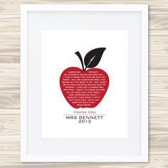 An apple a day teacher's print - hardtofind.