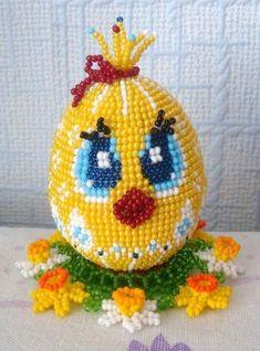 яйца из бисера своими руками, красивые схемы из бисера, яйцо из бисера схема