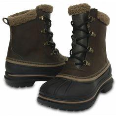 Сапоги темно коричневые зимние Crocs