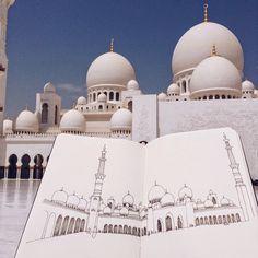 Sheikh Zayed Mosque, Abu Dhabi, United Arab Emirates by Urban Sketchers