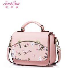 de8ffb6c590b8 Just Star Designer Brand Women Pu Leather Handbags Crossbody Shoulder  Messenger Bags Small Teenage Girls Handbag