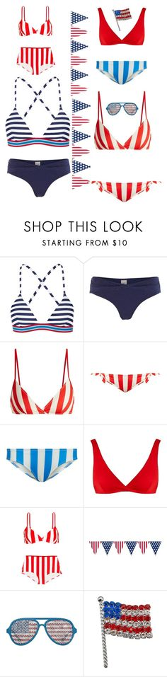"""4th of July bathing suits!"" by kotnourka ❤ liked on Polyvore featuring Rye, White Stuff and Solid & Striped"