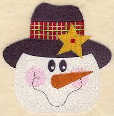 Snowman Face Quilt Block - Md