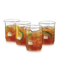 Look at this Chemistry Bar Beaker Glass - Set of Four on #zulily today!