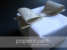 Diy Presents, Christmas Crafts, Bows, Paper, Gifts, Crafting, Packaging, Gift Ideas, Arches