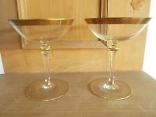 2 X VINTAGE GOLD BANDED CHAMPAGNE SAUCERS COUPES Champagne Saucers, Marie Antoinette, Gold Bands, Glasses, Tableware, Vintage, Shopping, Ebay, Eyewear
