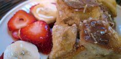 {Coconut + Banana} Overnight Baked French Toast