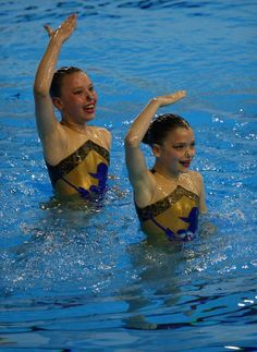 Ottawa Synchro swimmers Molly Devolin, left, and Sascha Motz, perform at 2014 Ontario Open Synchronized Swimming Championships held at the Windsor International Aquatic and Training Centre Friday May 24, 2014.   (NICK BRANCACCIO/The Windsor�Star)