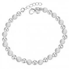 High Quality Female 925 Sterling Silver Bracelet With Beads