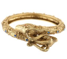 Jacqueline Kennedy Double Rams Head Cuff Bracelet for $75.