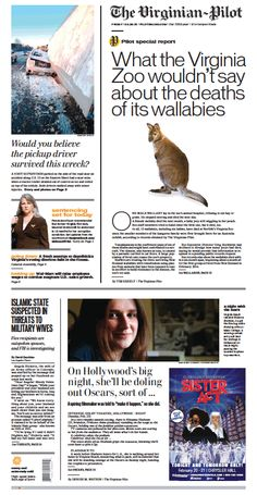 The Virginian-Pilot's front page for Friday, Feb. 20, 2015.