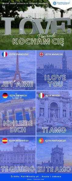 """Powiedz """"Kocham Cię"""" w różnych językach... Fan Art, Love You, Te Quiero, Amor, Fanart"""