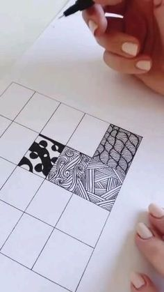 Untitled Doodle Art Designs, Doodle Patterns, Zentangle Patterns, Easy Zentangle, Art Drawings Sketches Simple, Pencil Art Drawings, Easy Drawings, Doodle Art Drawing, Easy 3d Drawing