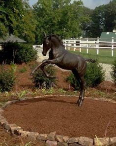equine sculptures | Lifesize horse sculpture of foal in bronze