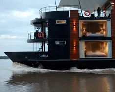 Luxury floating hotel on the Amazon River