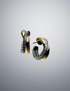 David Yurman: X Hoop Earrings