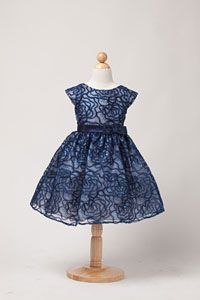 Girls Dress Style 450- Sequin and Embroidered Organza Dress