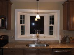Large Bay Window Featured Above The Sink