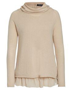 TWIN-SET by Simona Barbieri Pullover mit Rüschentop - sand  Jetzt auf kleidoo.de bestellen!  #kleidoo #shop #fashion #sand #pullover