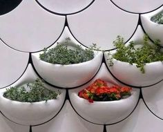 living wall planter tiles..don't know where i would put these but very cool!