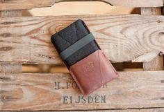 "iPhone 5 / 5S / 5C Sleeve & Wallet ""Kangaroo"" - leather, wool felt"